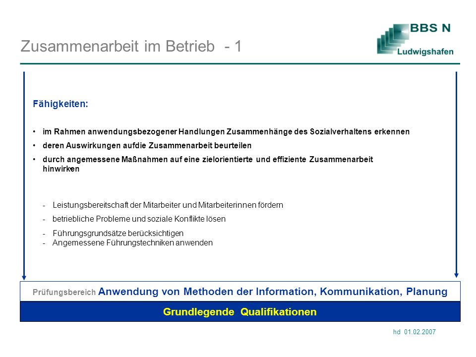Zusammenarbeit im Betrieb - 1