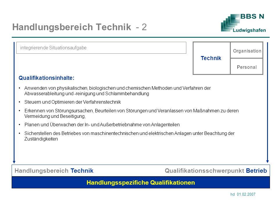 Handlungsbereich Technik - 2