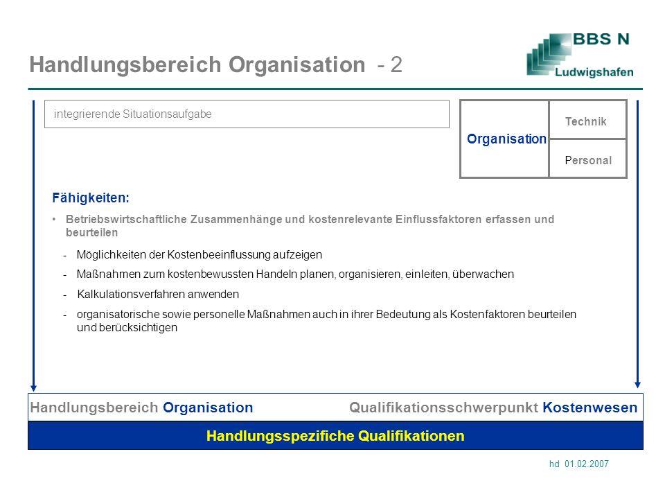 Handlungsbereich Organisation - 2