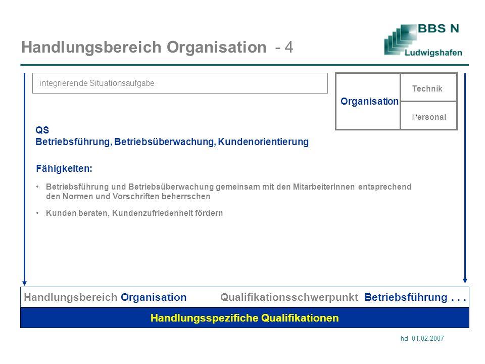 Handlungsbereich Organisation - 4