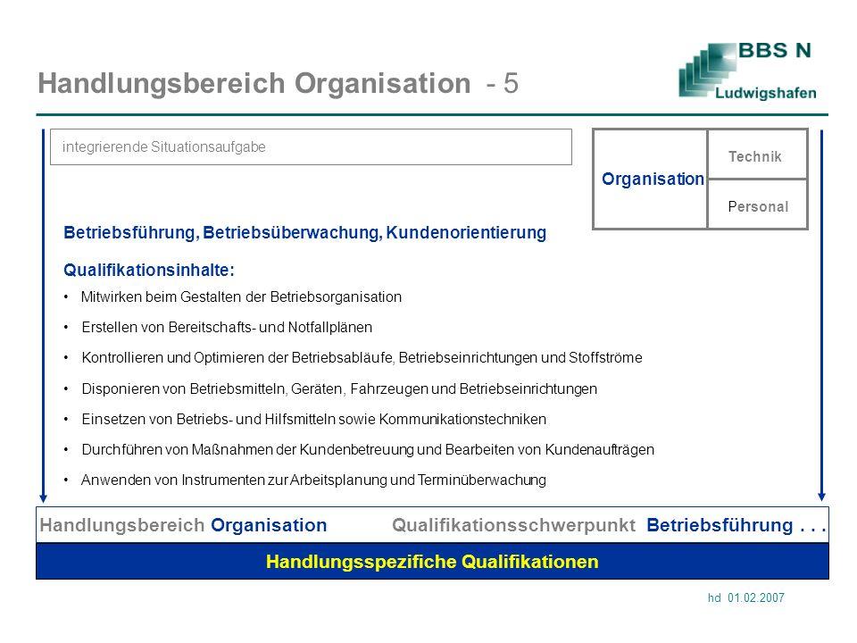 Handlungsbereich Organisation - 5