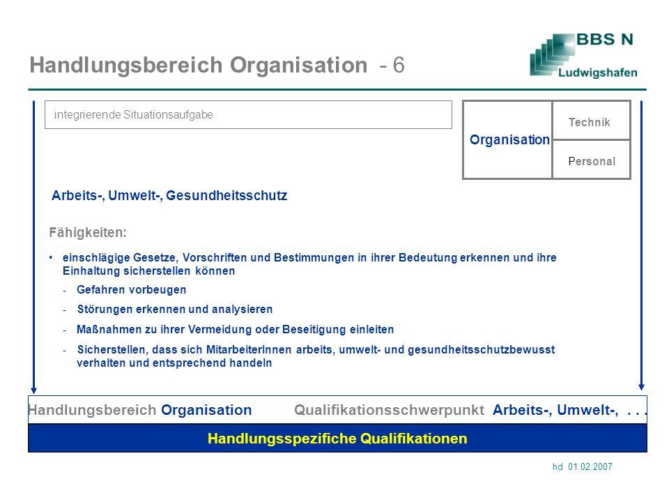 Handlungsbereich Organisation - 6