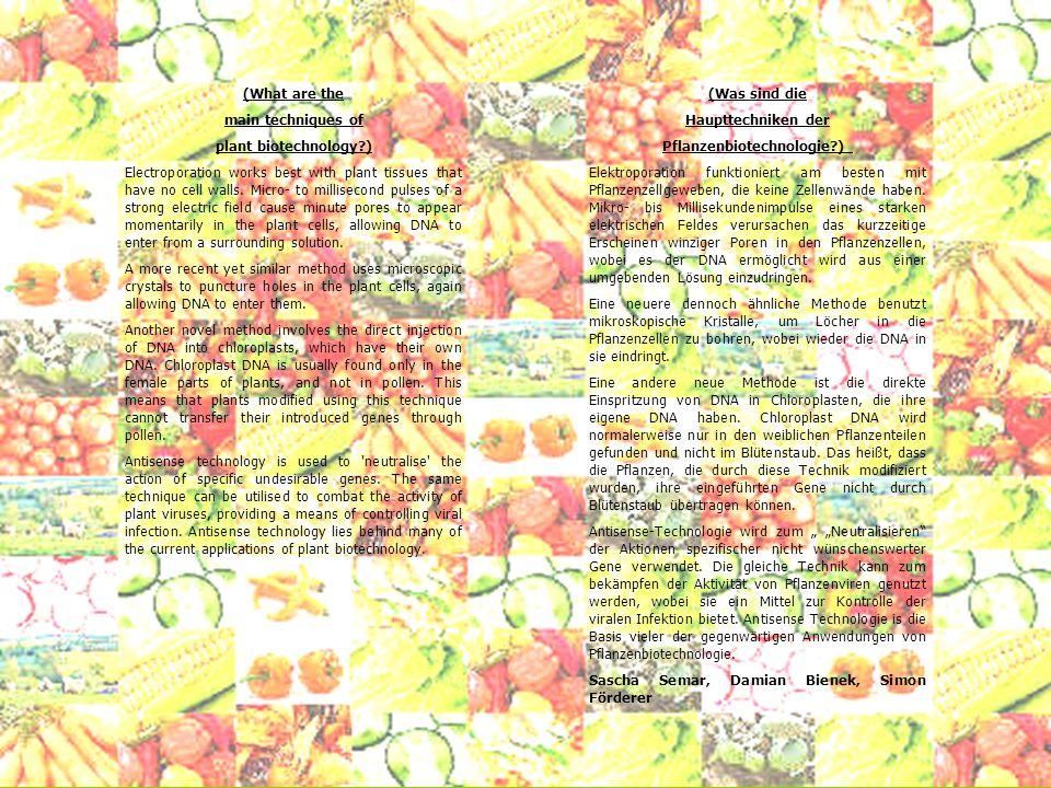 Pflanzenbiotechnologie )