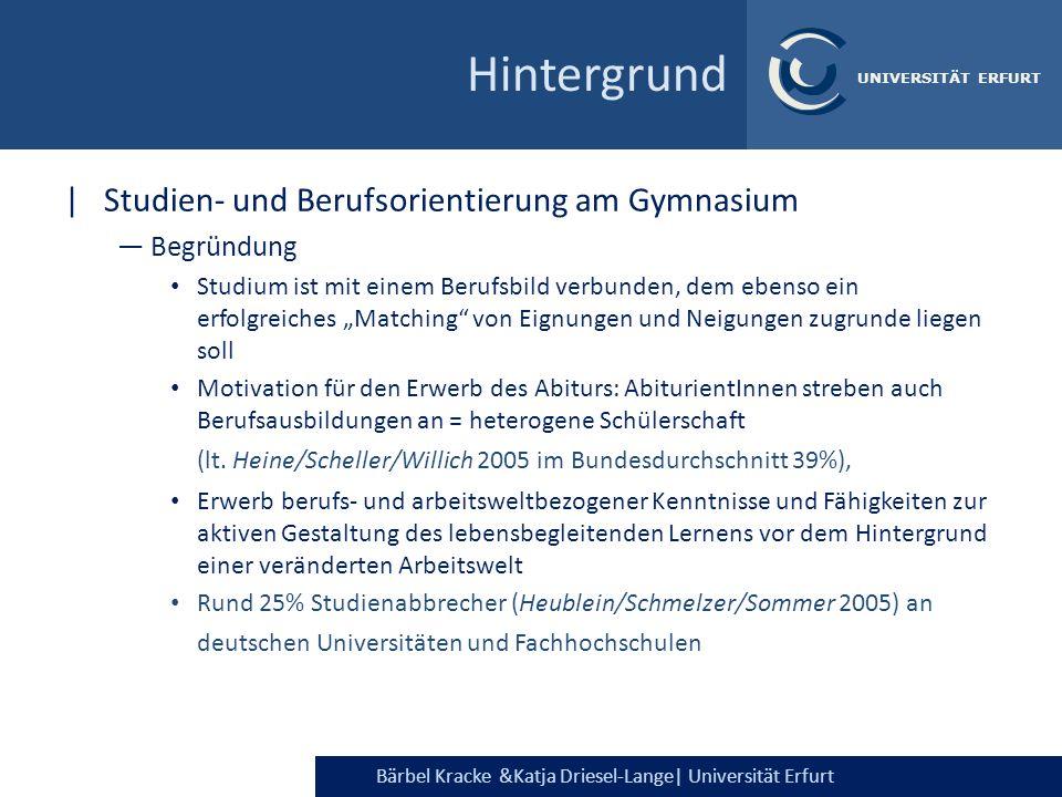 Hintergrund Studien- und Berufsorientierung am Gymnasium Begründung