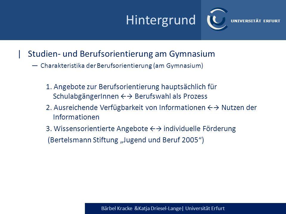 Hintergrund Studien- und Berufsorientierung am Gymnasium