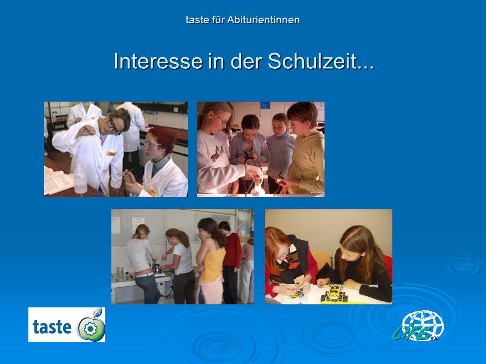 Interesse in der Schulzeit...