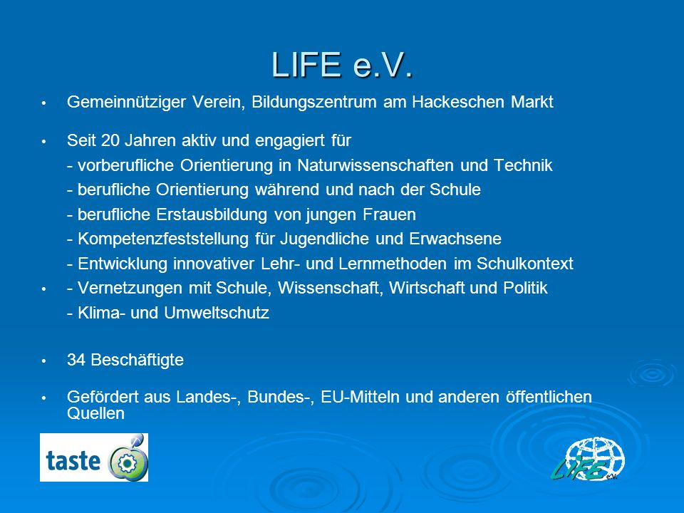 LIFE e.V. Gemeinnütziger Verein, Bildungszentrum am Hackeschen Markt