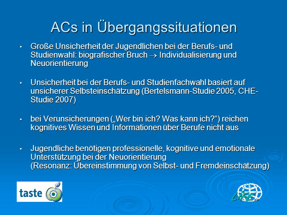 ACs in Übergangssituationen