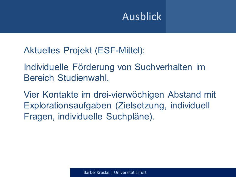 Ausblick Aktuelles Projekt (ESF-Mittel):