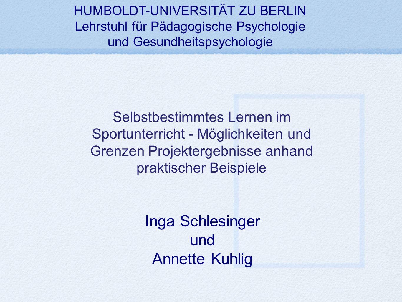 Inga Schlesinger und Annette Kuhlig