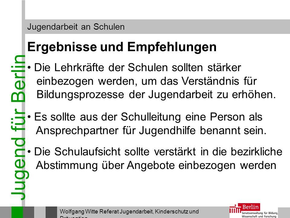 Jugend für Berlin Ergebnisse und Empfehlungen