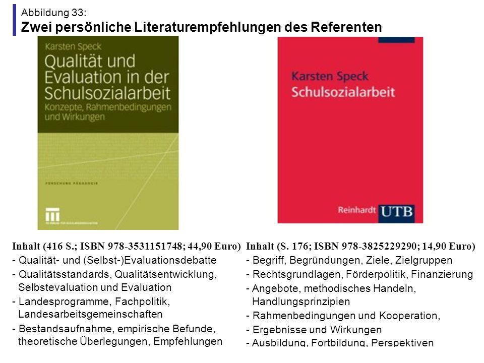 Abbildung 33: Zwei persönliche Literaturempfehlungen des Referenten