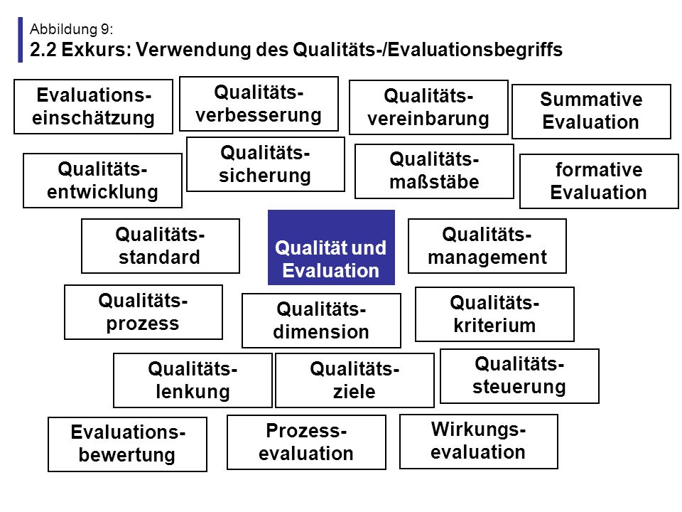 Abbildung 9: 2.2 Exkurs: Verwendung des Qualitäts-/Evaluationsbegriffs