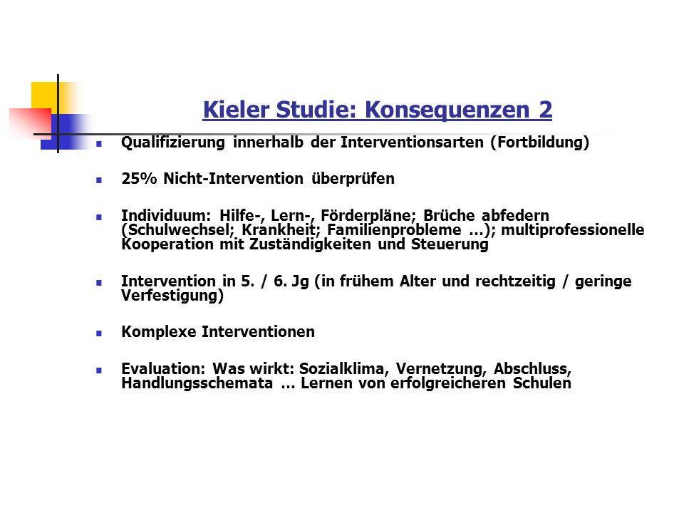 Kieler Studie: Konsequenzen 2
