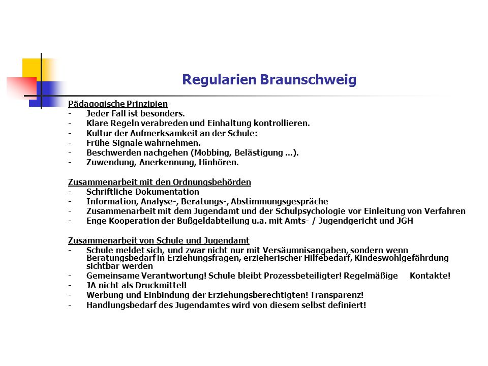 Regularien Braunschweig
