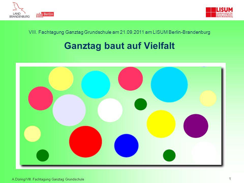 VIII. Fachtagung Ganztag Grundschule am 21. 09