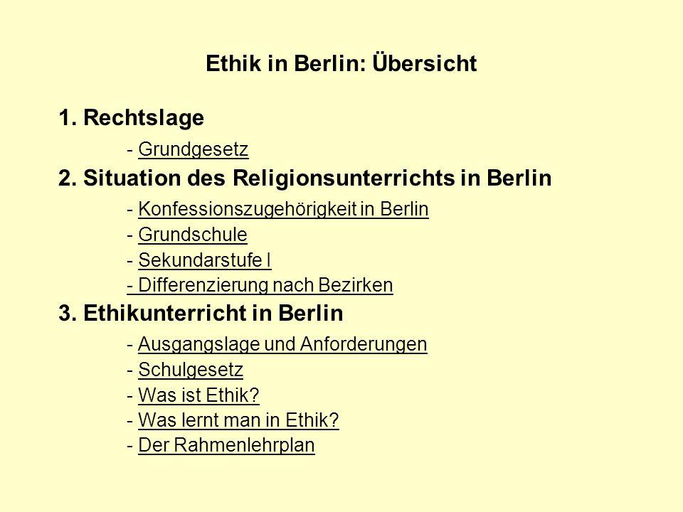 Ethik in Berlin: Übersicht