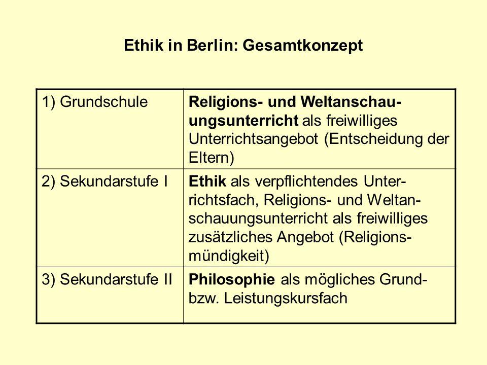 Ethik in Berlin: Gesamtkonzept