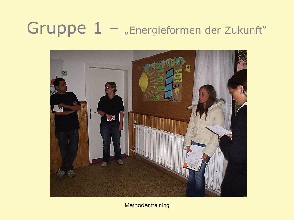 """Gruppe 1 – """"Energieformen der Zukunft"""