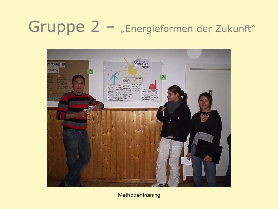 """Gruppe 2 – """"Energieformen der Zukunft"""