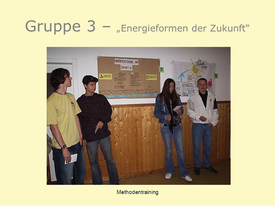 """Gruppe 3 – """"Energieformen der Zukunft"""