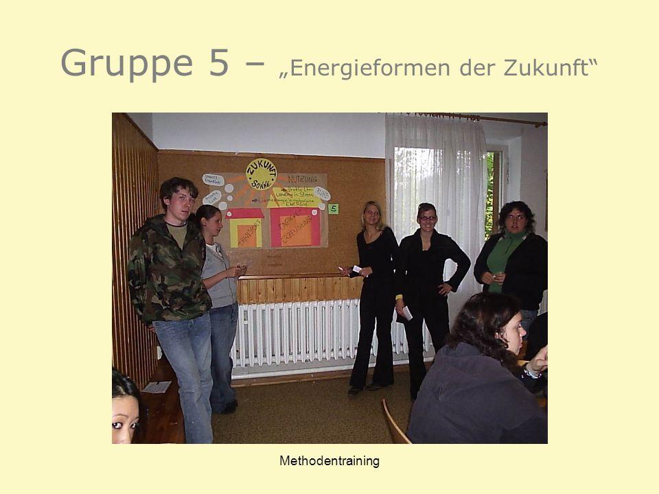 """Gruppe 5 – """"Energieformen der Zukunft"""