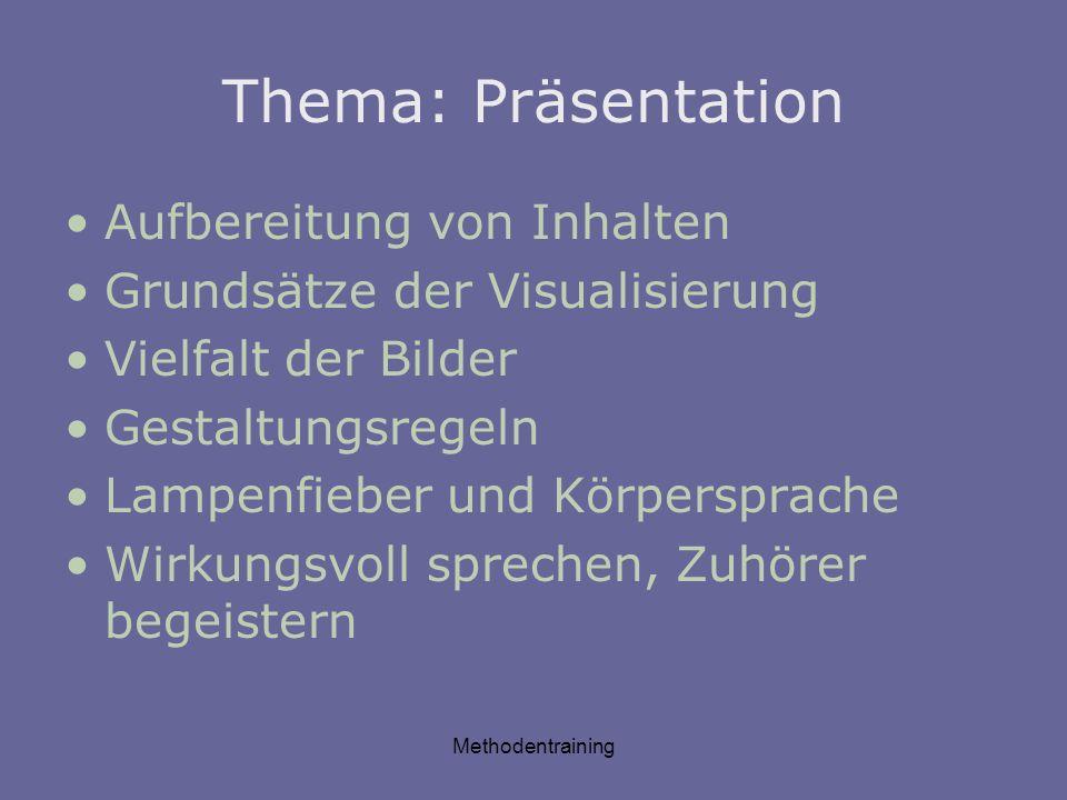 Thema: Präsentation Aufbereitung von Inhalten