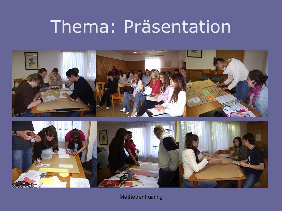 Thema: Präsentation Methodentraining