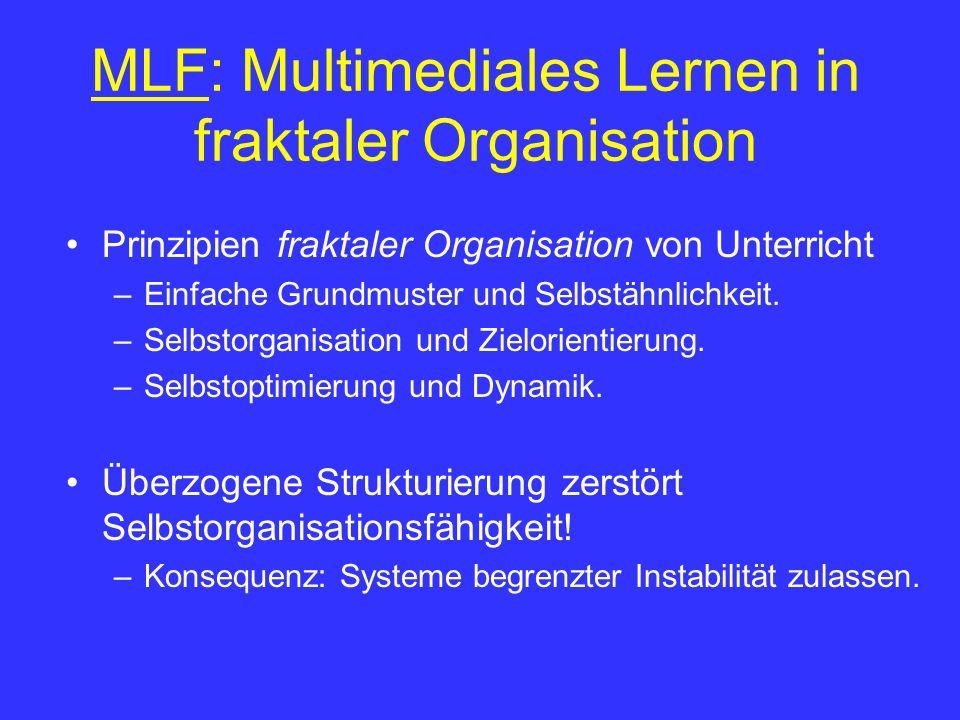 MLF: Multimediales Lernen in fraktaler Organisation