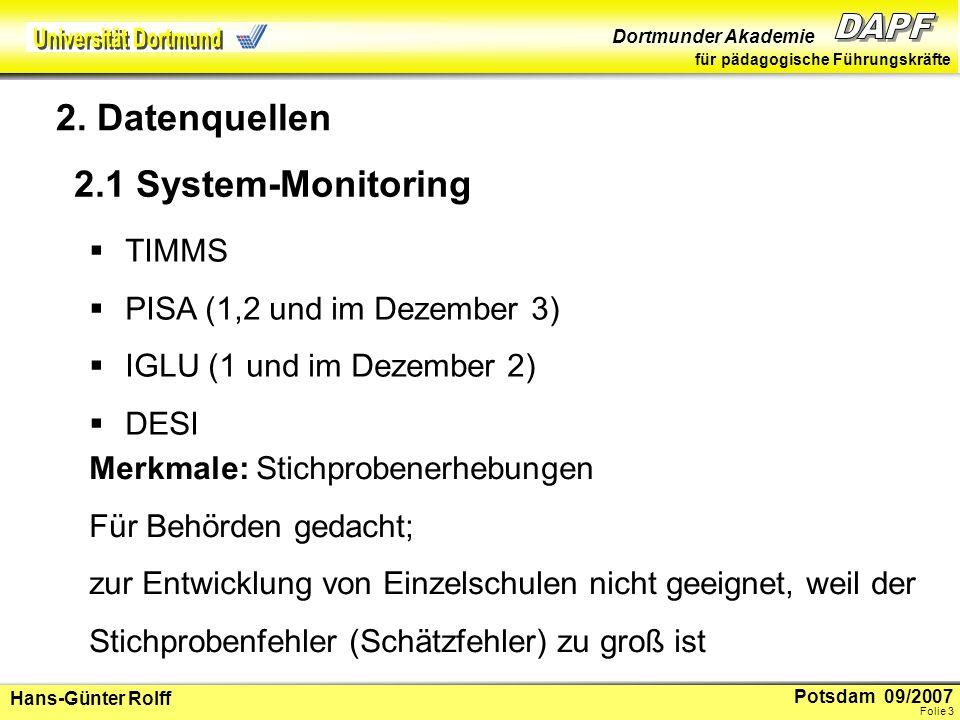 2. Datenquellen 2.1 System-Monitoring TIMMS