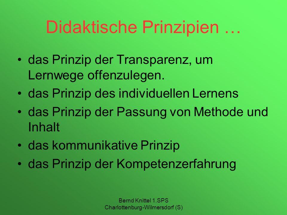 Didaktische Prinzipien …