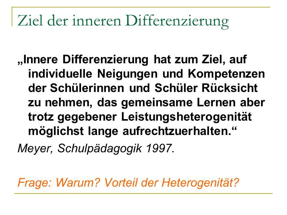 Ziel der inneren Differenzierung