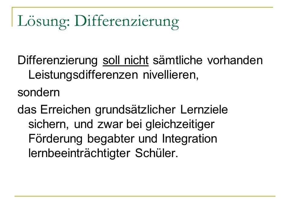 Lösung: Differenzierung