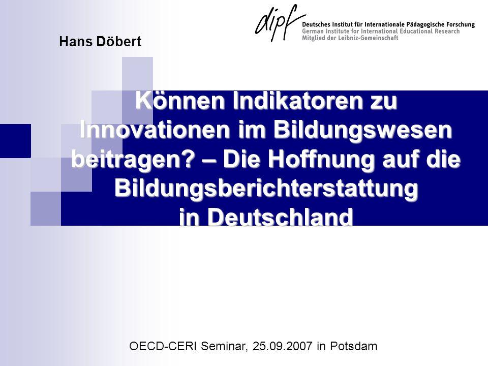 OECD-CERI Seminar, 25.09.2007 in Potsdam