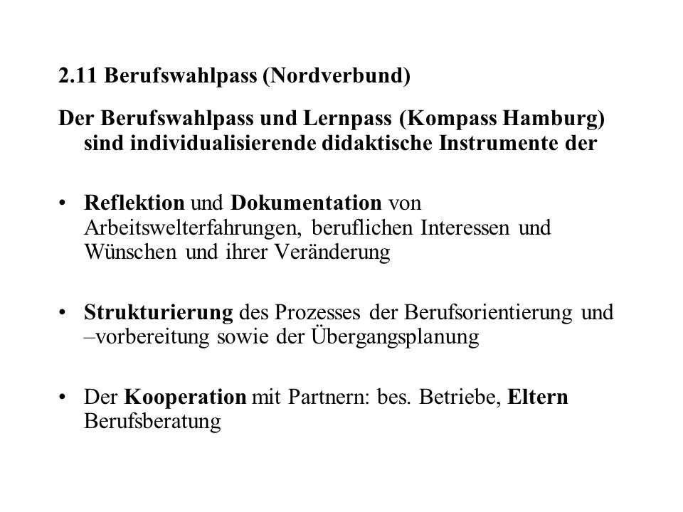 2.11 Berufswahlpass (Nordverbund)