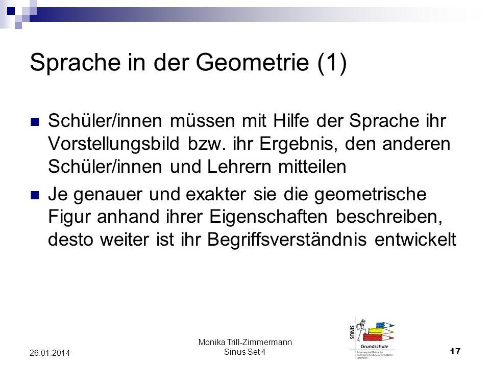 Sprache in der Geometrie (1)