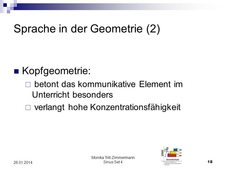Sprache in der Geometrie (2)