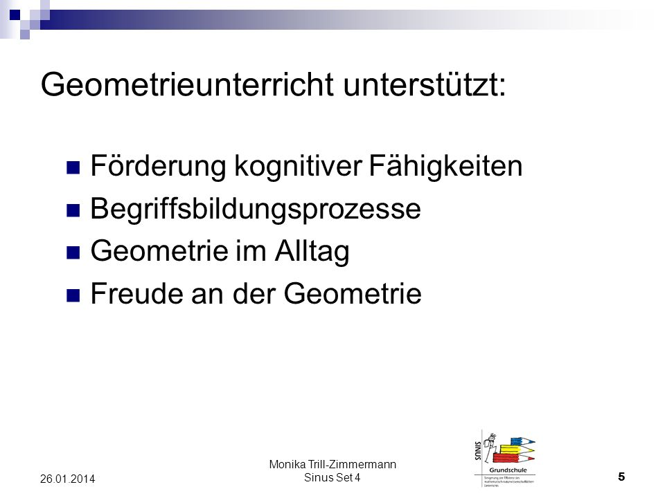 Geometrieunterricht unterstützt: