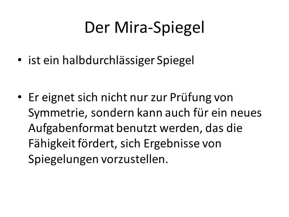 Der Mira-Spiegel ist ein halbdurchlässiger Spiegel