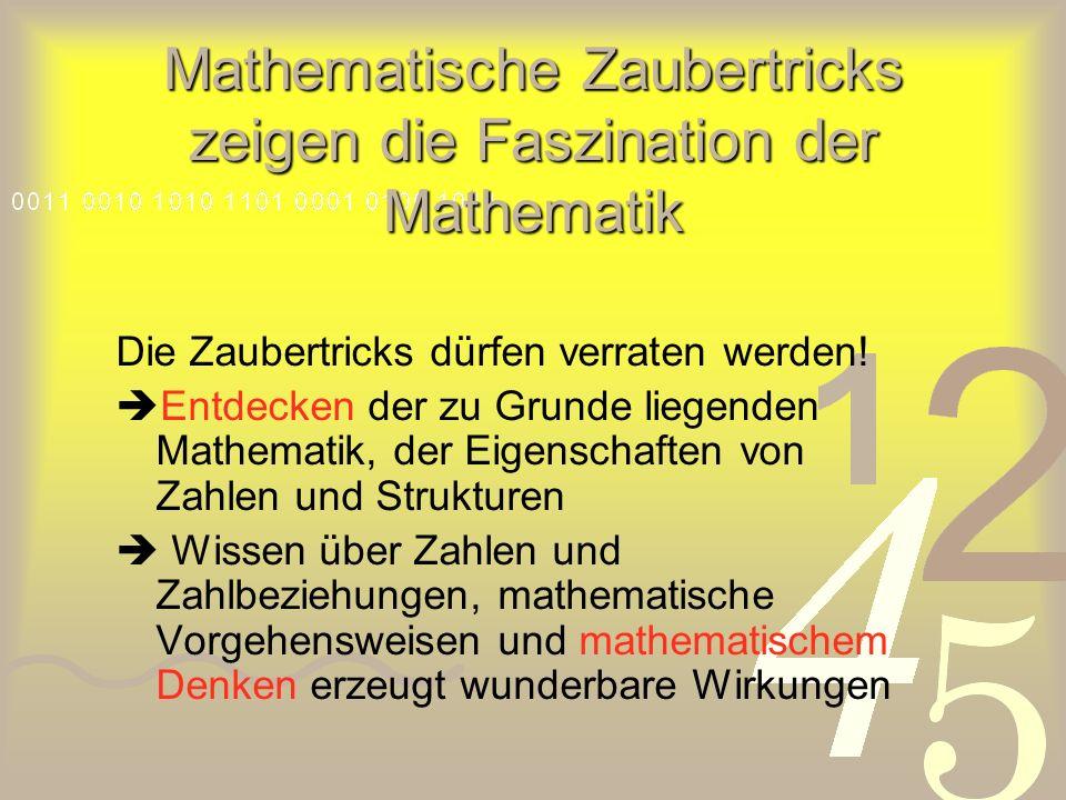 Mathematische Zaubertricks zeigen die Faszination der Mathematik
