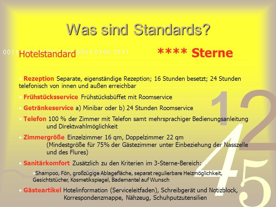 Was sind Standards Hotelstandard **** Sterne