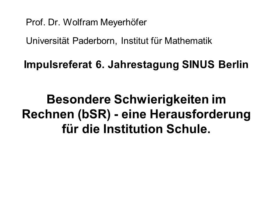Impulsreferat 6. Jahrestagung SINUS Berlin