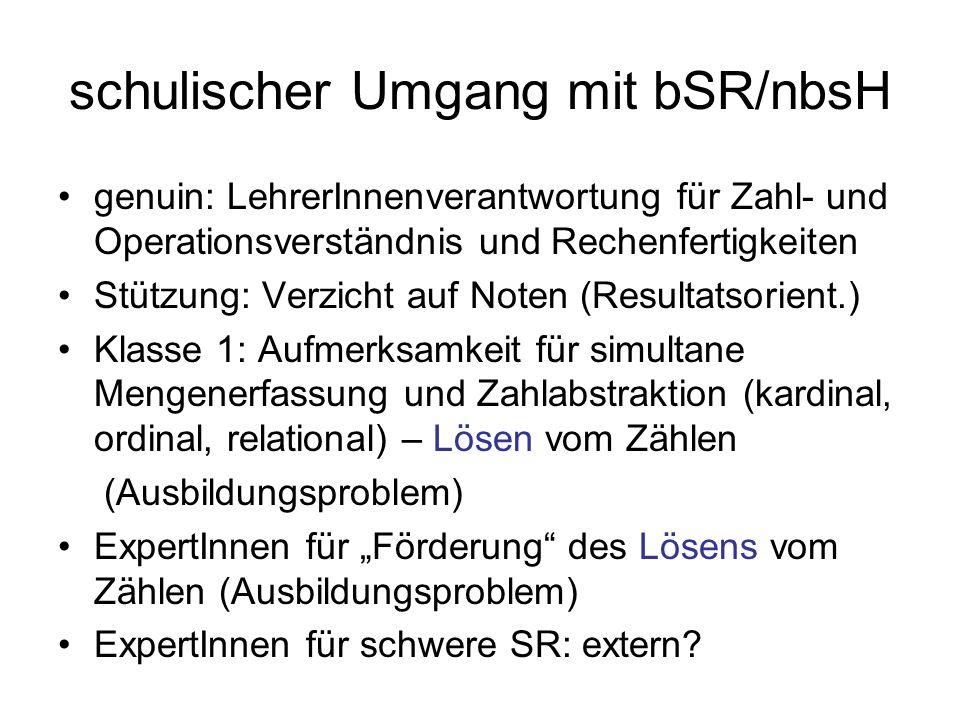 schulischer Umgang mit bSR/nbsH