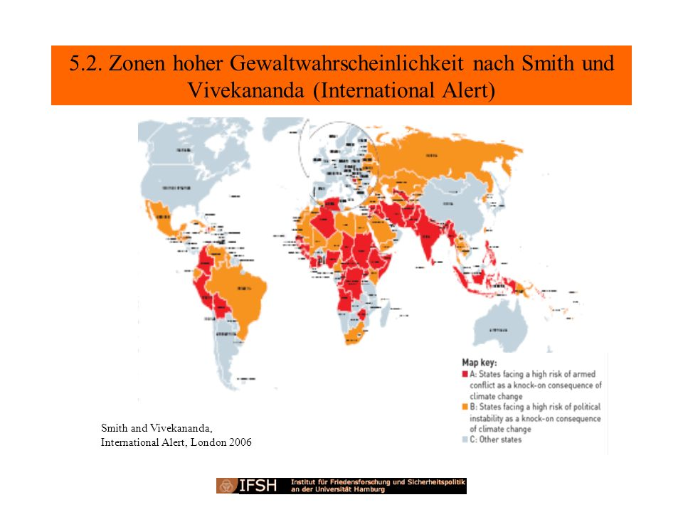 5.2. Zonen hoher Gewaltwahrscheinlichkeit nach Smith und Vivekananda (International Alert)