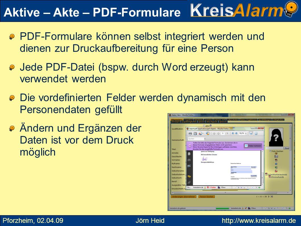 Aktive – Akte – PDF-Formulare