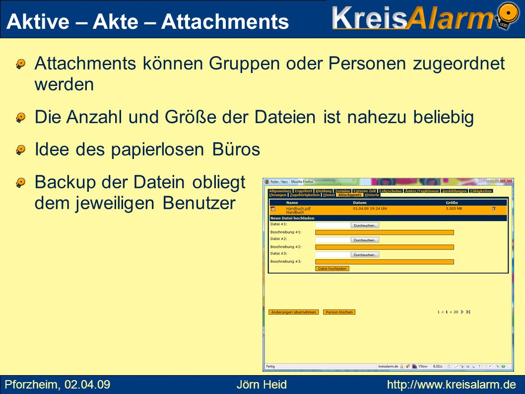 Aktive – Akte – Attachments