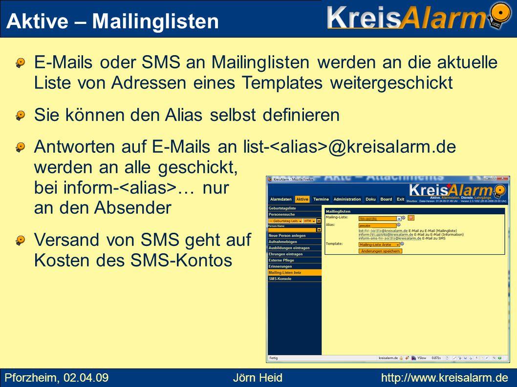 Aktive – Mailinglisten