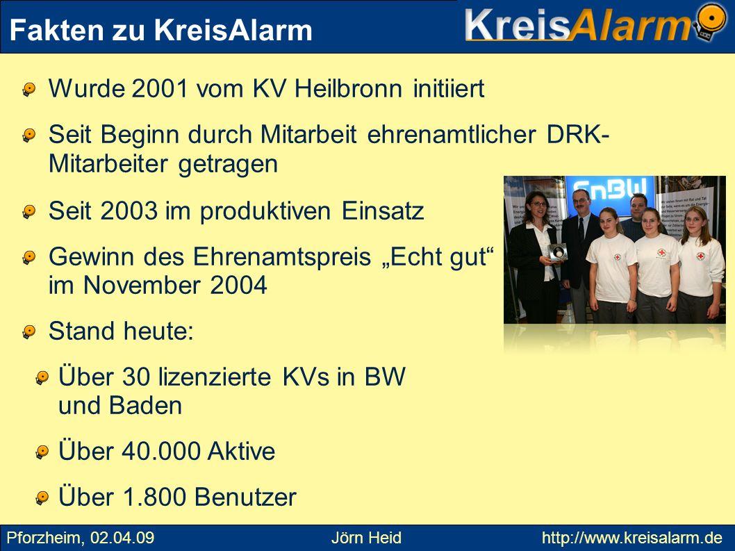 Fakten zu KreisAlarm Wurde 2001 vom KV Heilbronn initiiert