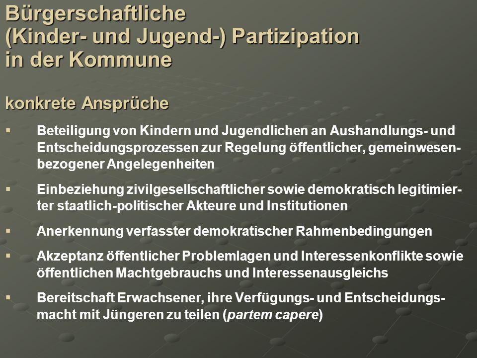 (Kinder- und Jugend-) Partizipation in der Kommune