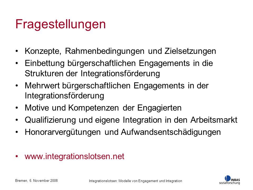 Integrationslotsen: Modelle von Engagement und Integration